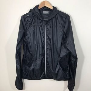 Nanette Lepore Black Rain Jacket Windbreaker